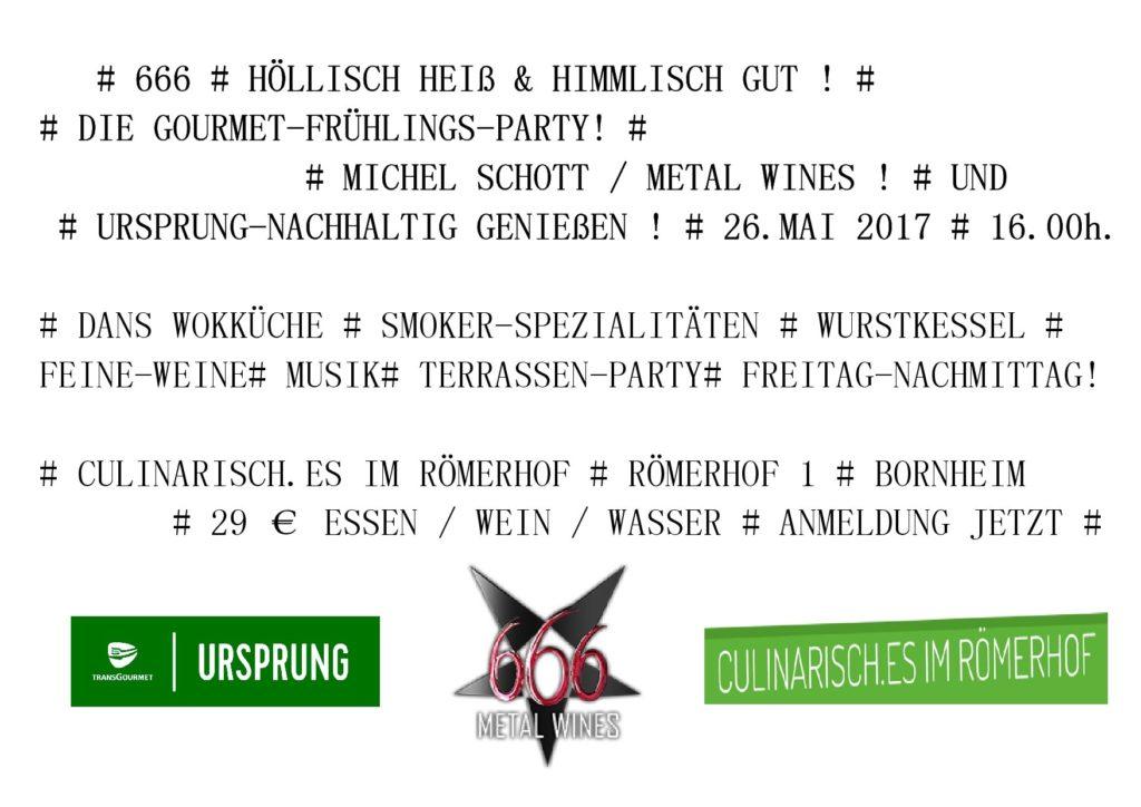 666 Höllisch heiß & Himmlisch gut ! 26. Mai 2017