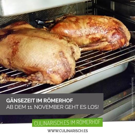 Entfällt: Gänsezeit im Römerhof <br/>ab dem 11. November geht es los!